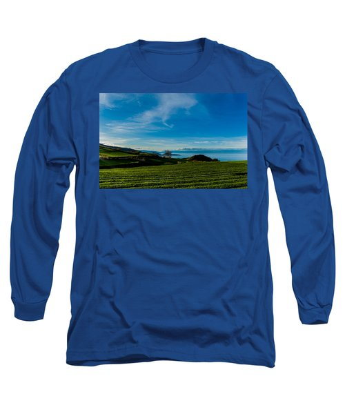 Field Of Tea Long Sleeve T-Shirt