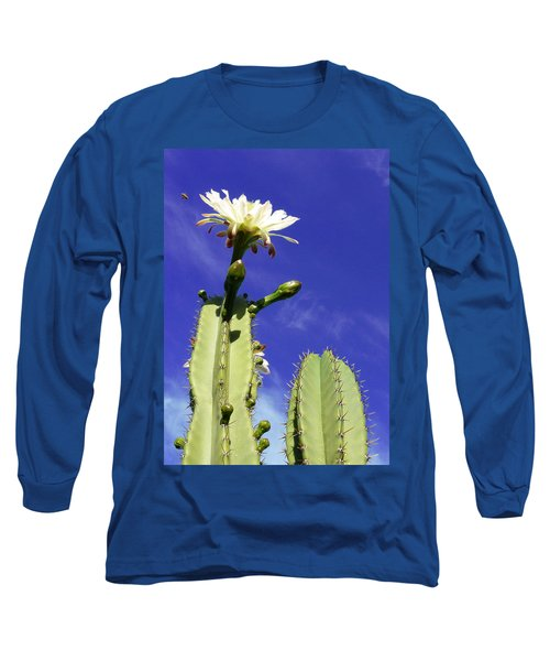 Flowering Cactus 2 Long Sleeve T-Shirt by Mariusz Kula
