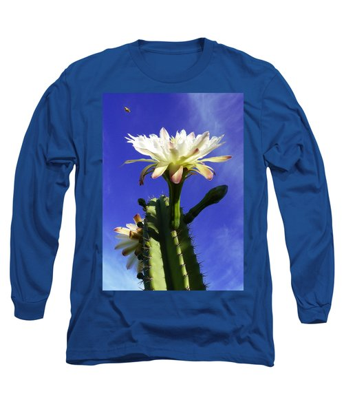 Flowering Cactus 3 Long Sleeve T-Shirt by Mariusz Kula