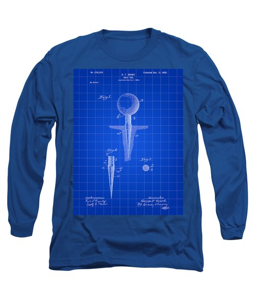 Golf Tee Patent 1899 - Blue Long Sleeve T-Shirt by Stephen Younts