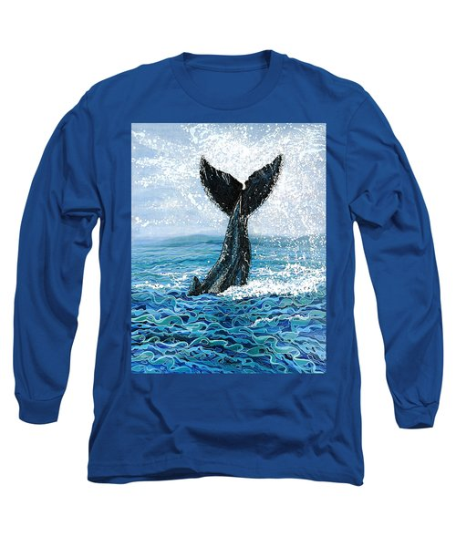 Humpback Flukes Long Sleeve T-Shirt