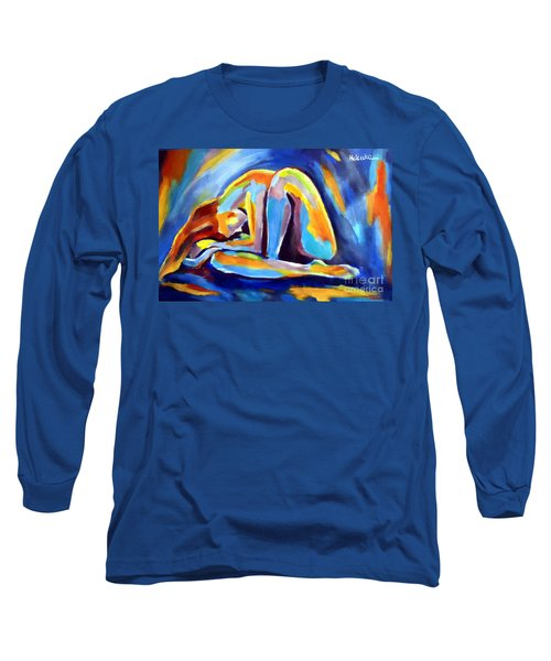 Long Sleeve T-Shirt featuring the painting Insomnia by Helena Wierzbicki