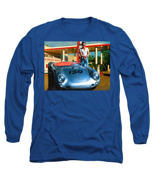 James Dean Filling His Spyder With Gas Long Sleeve T-Shirt by Doc Braham