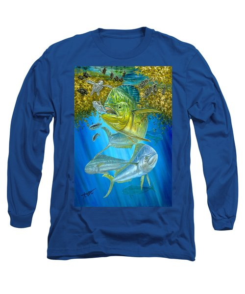 Mahi Mahi Hunting In Sargassum Long Sleeve T-Shirt