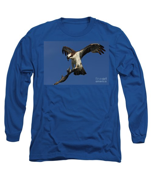 Long Sleeve T-Shirt featuring the photograph Osprey With A Fish Photo by Meg Rousher