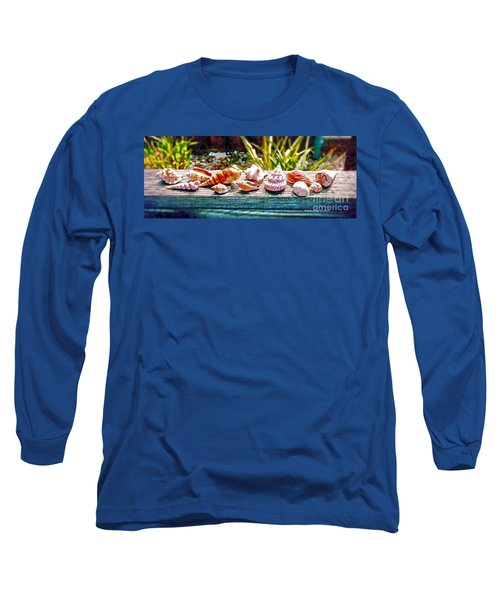 Long Sleeve T-Shirt featuring the photograph Shell Collection by Annie Zeno