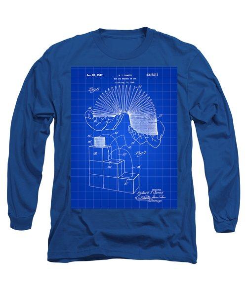 Slinky Patent 1946 - Blue Long Sleeve T-Shirt