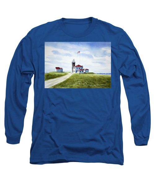 Watch Hill Ri Lighthouse Long Sleeve T-Shirt by Joan Hartenstein