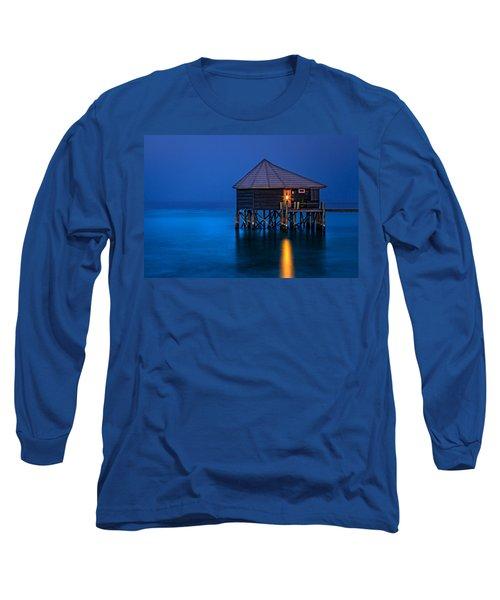 Water Villa In The Maldives Long Sleeve T-Shirt