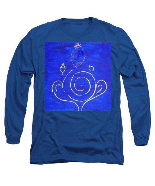 16 Ganesh Long Sleeve T-Shirt by Kruti Shah