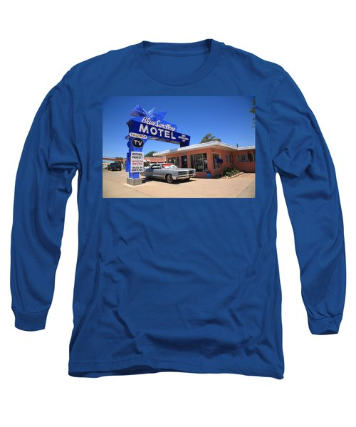 Route 66 - Blue Swallow Motel Long Sleeve T-Shirt