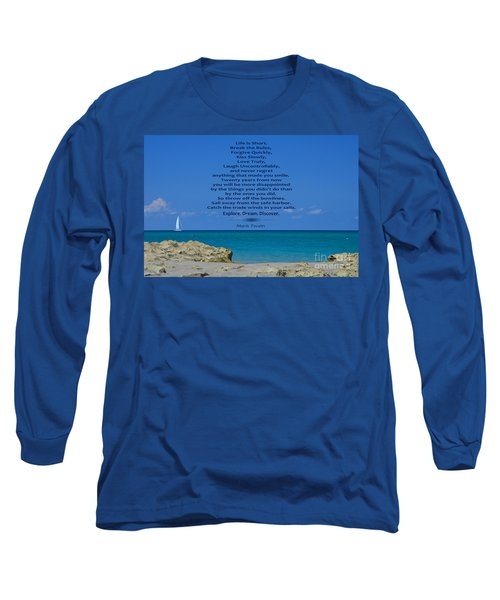 186- Mark Twain Long Sleeve T-Shirt by Joseph Keane