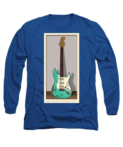Long Sleeve T-Shirt featuring the digital art 1963 by WB Johnston
