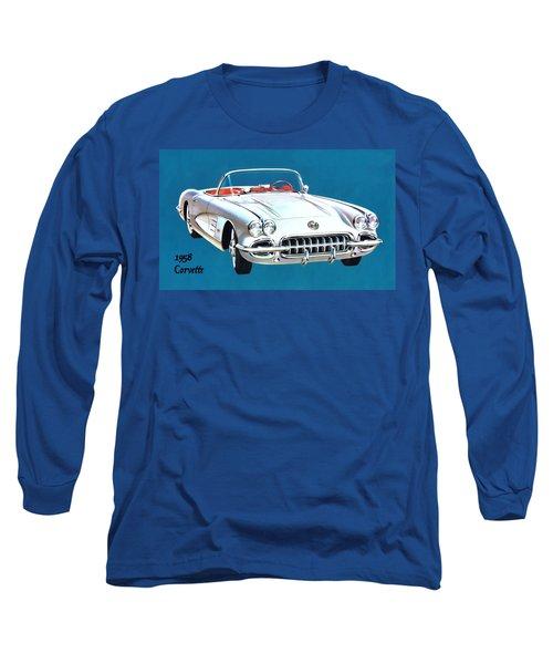 1958 Corvette Long Sleeve T-Shirt