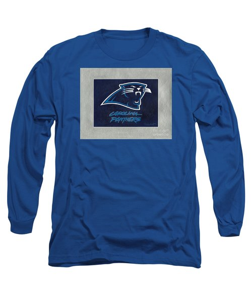 Panthers  Long Sleeve T-Shirt by Herb Strobino