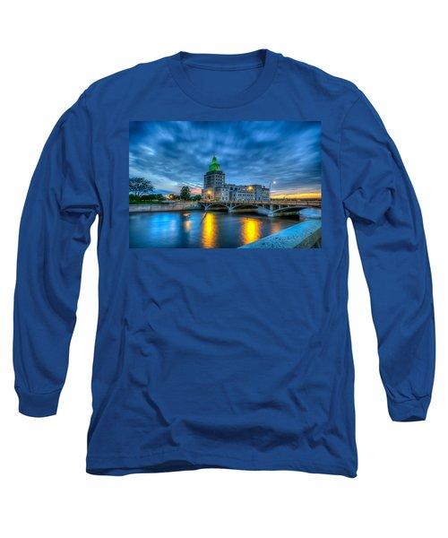Cedar Rapids Mays Island At Sunset Long Sleeve T-Shirt