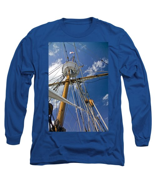 Long Sleeve T-Shirt featuring the photograph Elizabeth II Mast Rigging by Greg Reed
