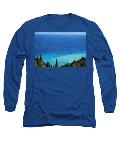 green and blue Erikousa Long Sleeve T-Shirt