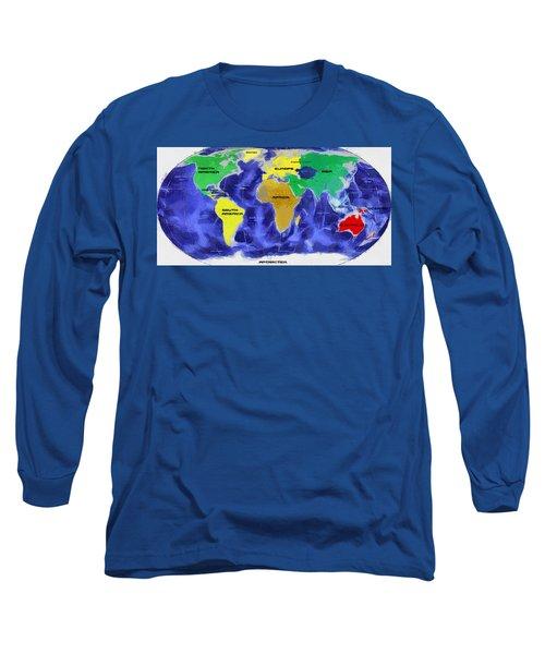 Map Of The World Long Sleeve T-Shirt by Georgi Dimitrov