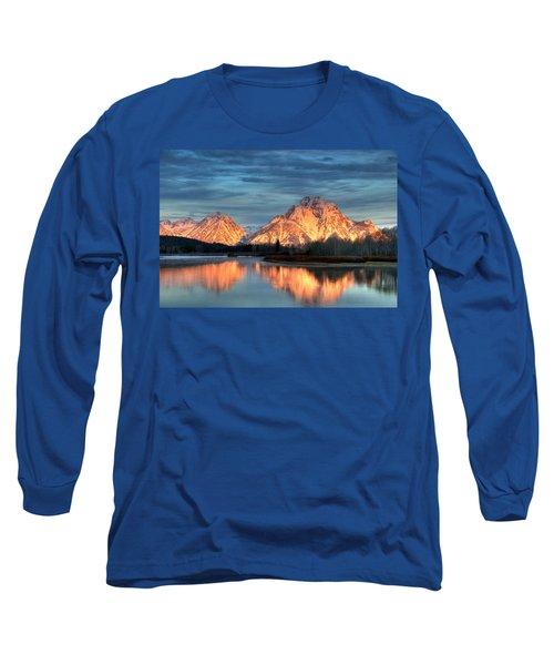 Mount Moran Long Sleeve T-Shirt by Steve Stuller