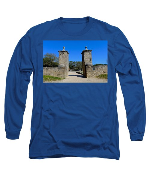 Old City Gates Of St. Augustine Long Sleeve T-Shirt