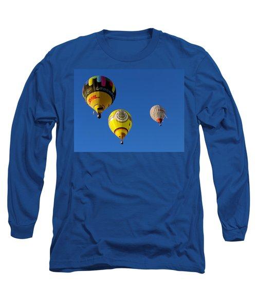 3 Hot Air Balloon Long Sleeve T-Shirt by John Swartz