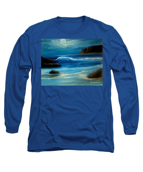Long Sleeve T-Shirt featuring the painting Illuminated by Holly Martinson