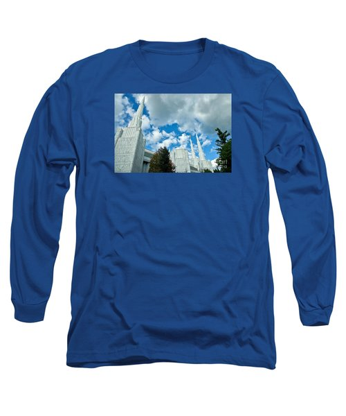 Long Sleeve T-Shirt featuring the photograph Portland Oregon Lds Temple by Nick  Boren