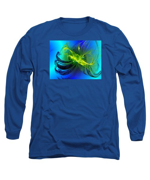 Long Sleeve T-Shirt featuring the digital art 47 by Jeff Iverson