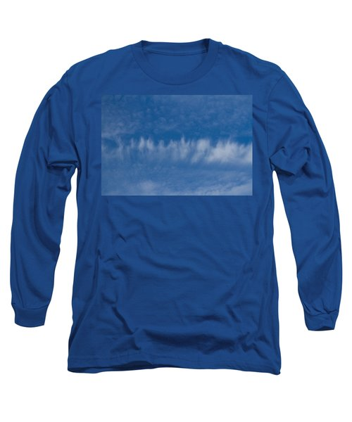Long Sleeve T-Shirt featuring the photograph A Batch Of Interesting Clouds In A Blue Sky by Eti Reid