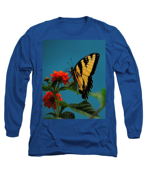 Long Sleeve T-Shirt featuring the photograph A Butterfly by Raymond Salani III