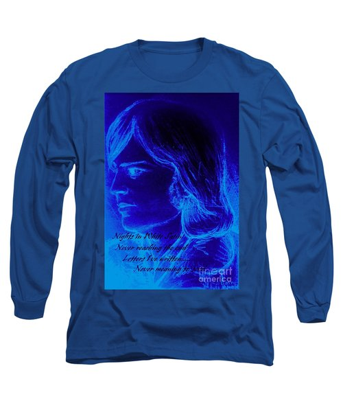 A Moody Blue Long Sleeve T-Shirt