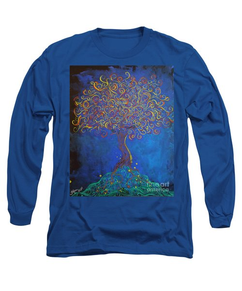 A Tree Of Orbs Glows Long Sleeve T-Shirt