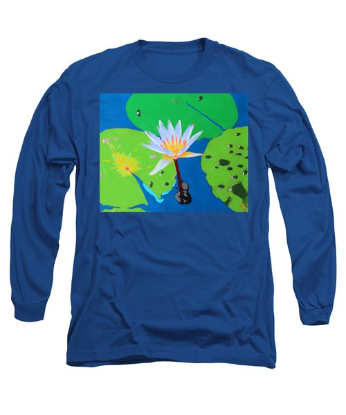 A Water Lily In Its Pad Long Sleeve T-Shirt