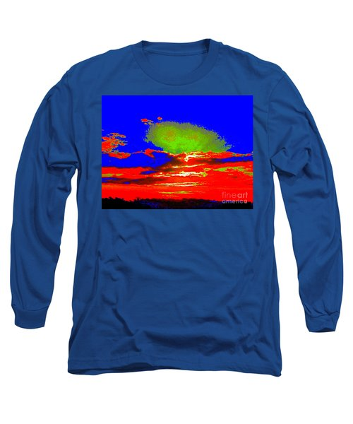 Abstract Sunset Orange Blue Green And So On Long Sleeve T-Shirt