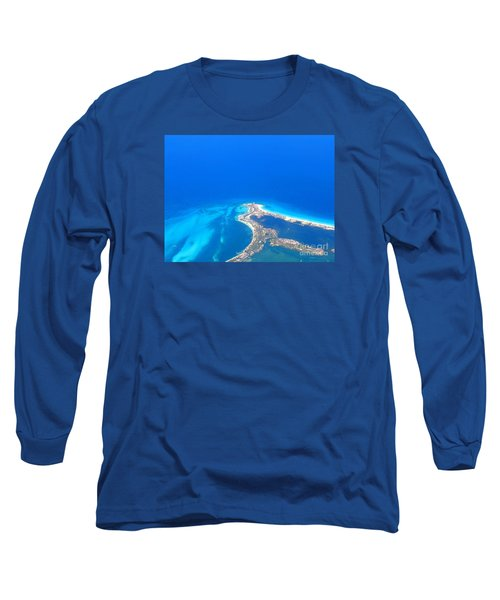 Long Sleeve T-Shirt featuring the photograph Aerial View Of Cancun by Patti Whitten