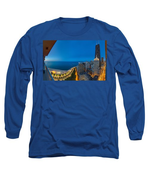 Aerial View Of The Lake Shore Drive Long Sleeve T-Shirt