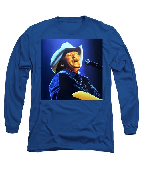 Alan Jackson Painting Long Sleeve T-Shirt