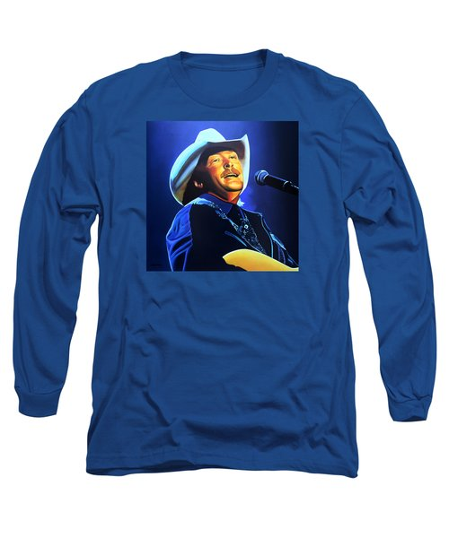 Alan Jackson Painting Long Sleeve T-Shirt