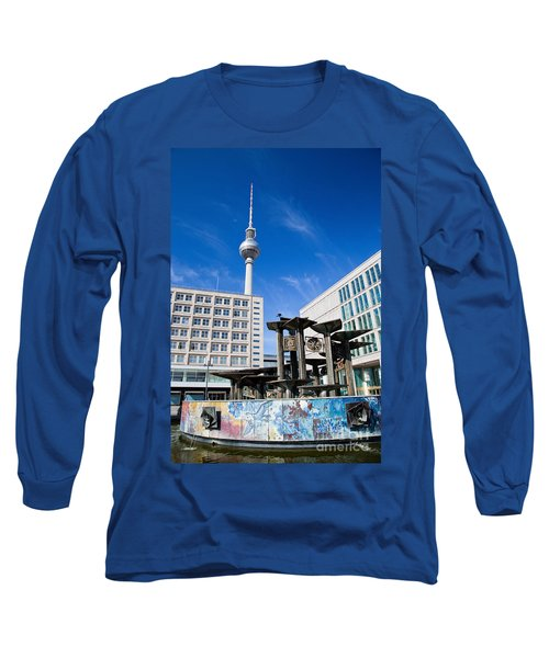 Alexanderplatz View On Television Tower Berlin Germany Long Sleeve T-Shirt