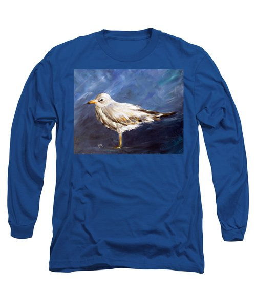Long Sleeve T-Shirt featuring the painting Alone by Dorothy Maier