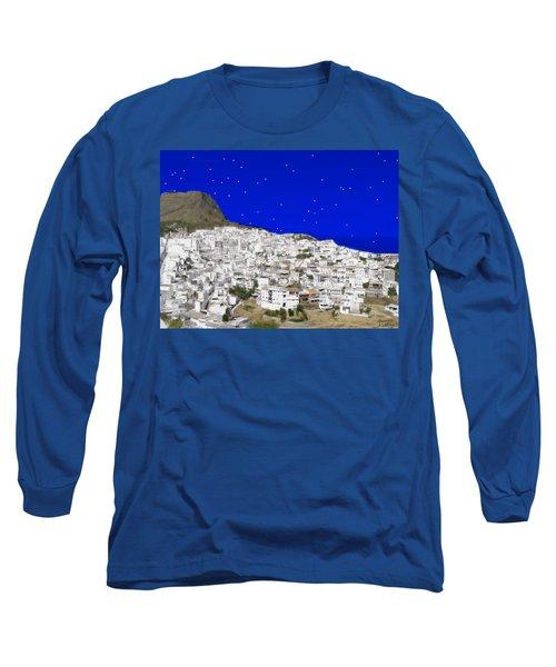 Alora Malaga Spain At Twilight Long Sleeve T-Shirt