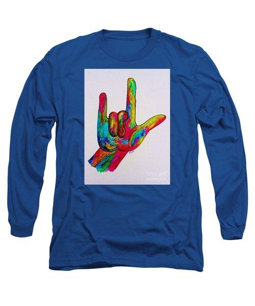 American Sign Language I Love You Long Sleeve T-Shirt