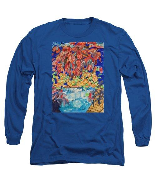 An Autumn Floral Long Sleeve T-Shirt by Esther Newman-Cohen