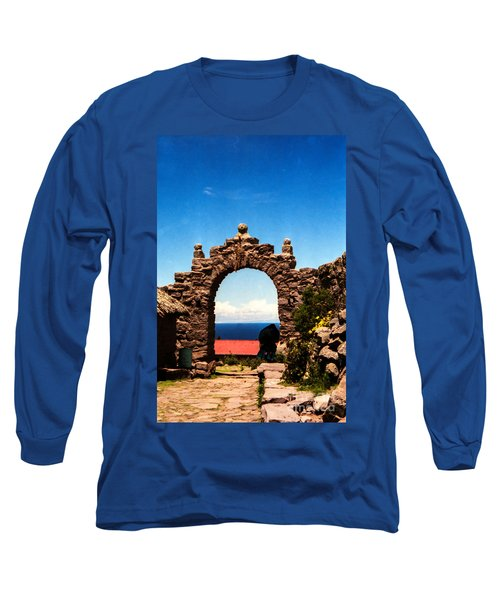 Long Sleeve T-Shirt featuring the photograph Ancient Portal by Suzanne Luft