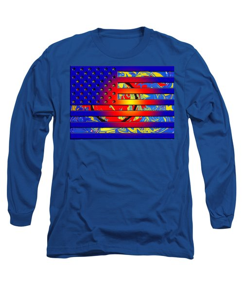 And The Flag Still Stands Long Sleeve T-Shirt by Robert Margetts