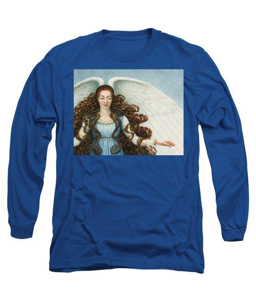 Angel In A Blue Dress Long Sleeve T-Shirt