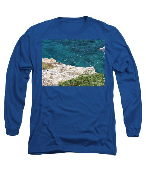 Long Sleeve T-Shirt featuring the photograph Antigua - Flight by HEVi FineArt