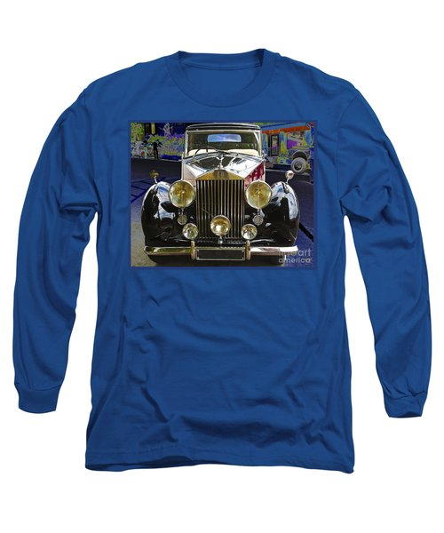 Long Sleeve T-Shirt featuring the digital art Antique Rolls Royce by Victoria Harrington