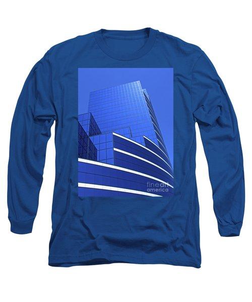 Architectural Blues Long Sleeve T-Shirt by Ann Horn